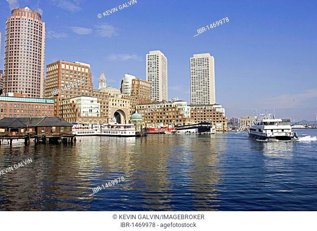 Rowes Wharf, waterfront, Boston, Massachusetts, New England, USA