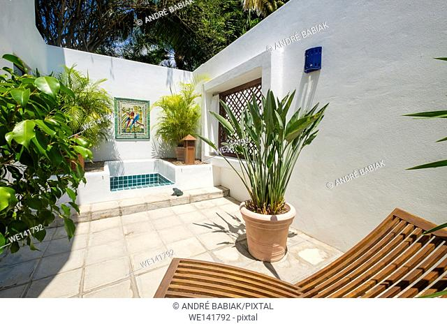 Outdoor shower - Upscale Mexican Residence, Punta de Mita, Riviera Nayarit, Mexico
