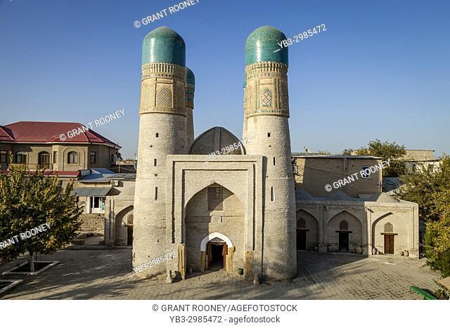 The Exterior Of The Chor Minor Madrassa, Bukhara, Uzbekistan