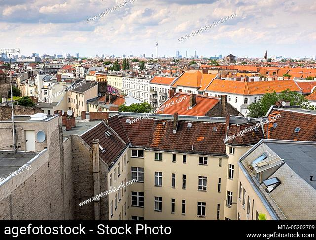 View over the rooftops of Berlin, Germany