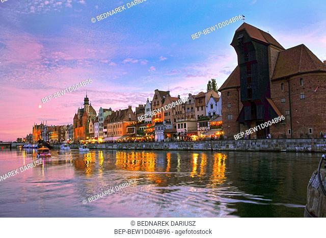 The medieval port crane. Gdansk, Pomeranian Voivodeship, Poland
