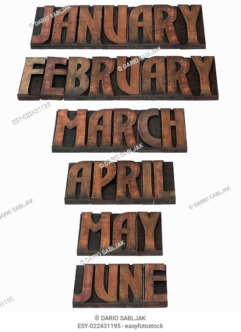Year Month Calendar Cutout