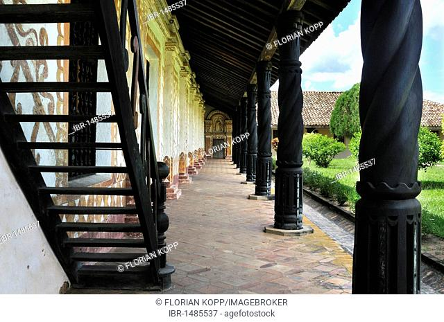 Cloister of the Jesuit church in San Rafael, Provincia de Vellasco, Chiquitania, Santa Cruz Department, Bolivia, South America