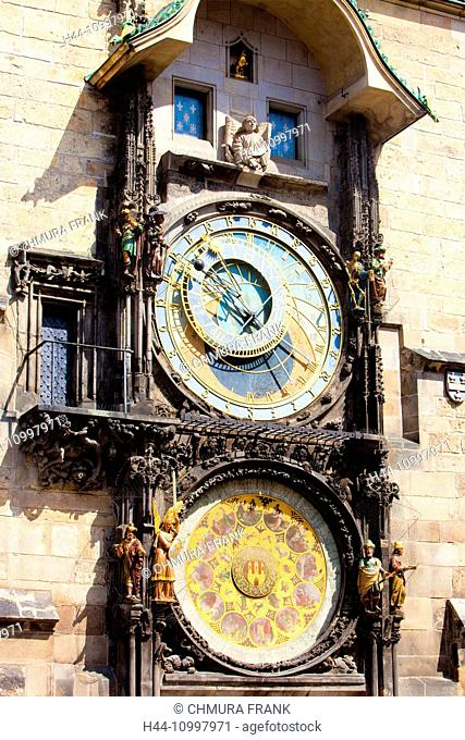 Czech Republic, Prague - Astronomical Clock at The Old Town Square