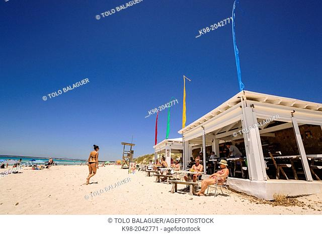Snack The Last Paradise - The Chiringito the Middle-, Es Trenc beach. Mallorca. Balearic Islands. Spain