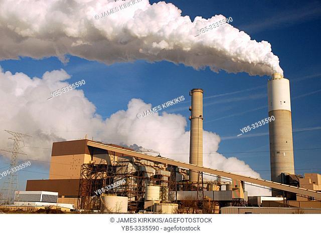 Pollution billows into the sky creating an environmental hazard