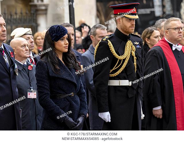 Photo by: KGC-178/starmaxinc.com.STAR MAX.©2019.ALL RIGHTS RESERVED.Telephone/Fax: (212) 995-1196.11/7/19.Prince Harry, The Duke of Sussex and Meghan