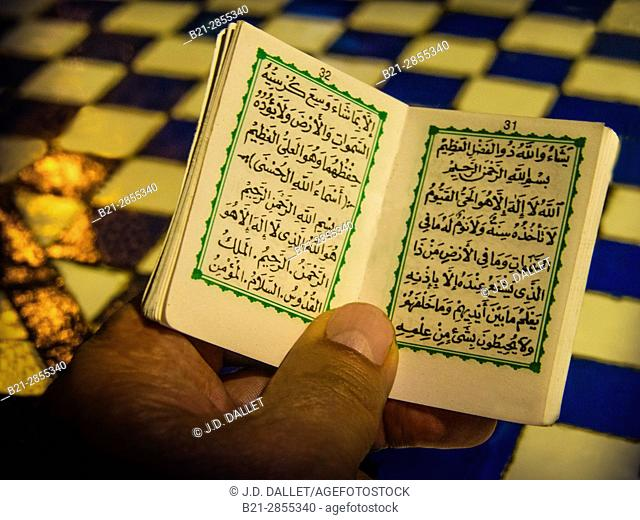 "Morocco, Fes, religious pocket book to protect against ""evil eye"", .."