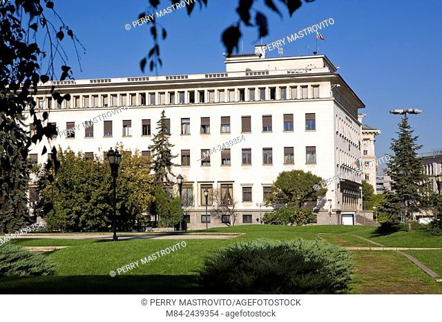 Bulgarian government central bank building, Sofia, Bulgaria, Eastern Europe