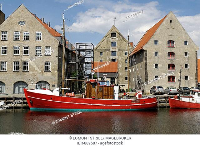 Historic Cutter in the old docks of Christianshavn, Copenhagen, Denmark, Scandinavia, Europe