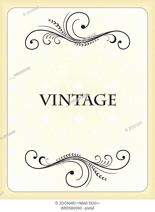 Vintage background card