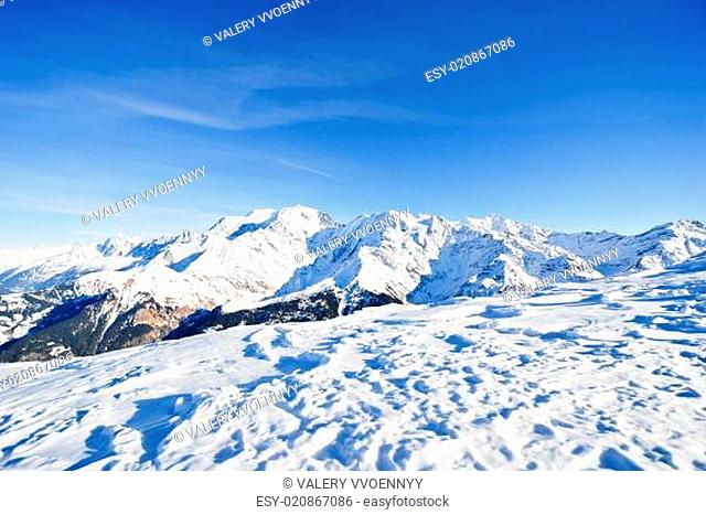 snow-covered mountains in Alps