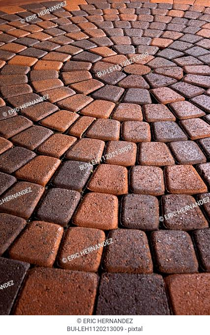 Detail shot of a brick ground; Laguna Niguel; California; USA