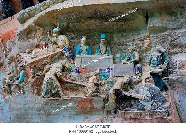 China, Chongqing province, Dazu Buddhist Caves, world heritage