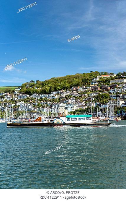 Kingswear castle paddle steamer, Dartmouth Harbor, Devon, England, UK