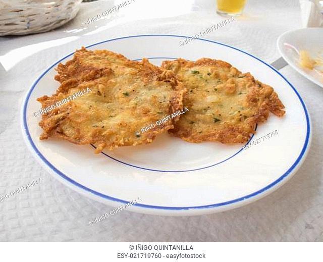 spanish little shrimp omelettes