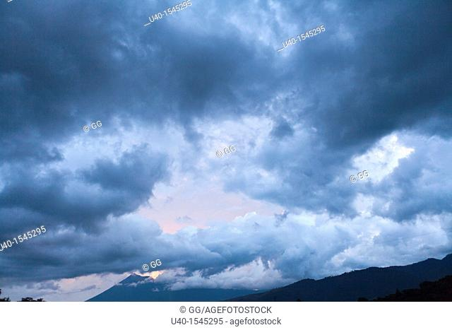 Dramatic sky, rain clouds
