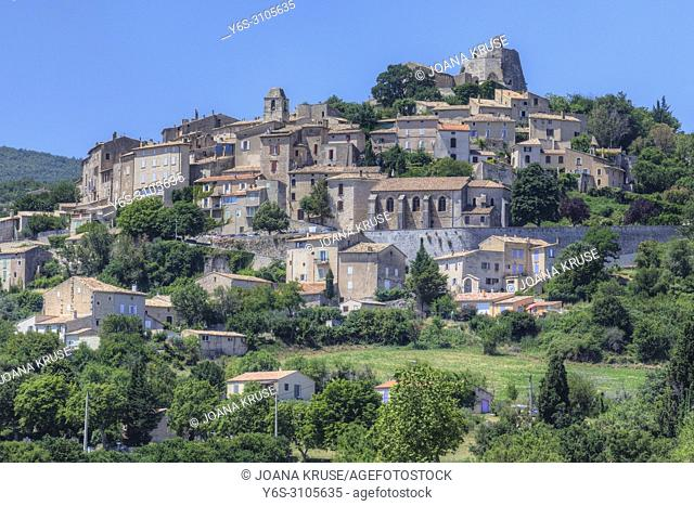 Simiane-la-Rotonde, Alpes-de-Haute-Provence, France, Europe