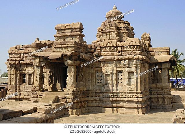 Pattadkal - Karnataka, Mallikarjuna temple, View from North-East