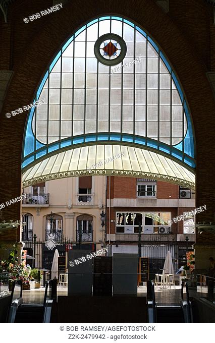 Mercado de Colon (Columbus Market), view from inside , Valencia, Spain