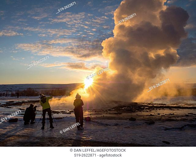 Iceland Geysir Eruption