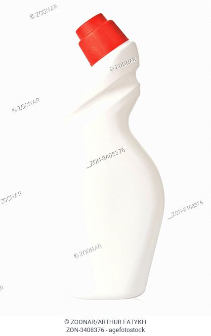 White plastic bottle with red cover