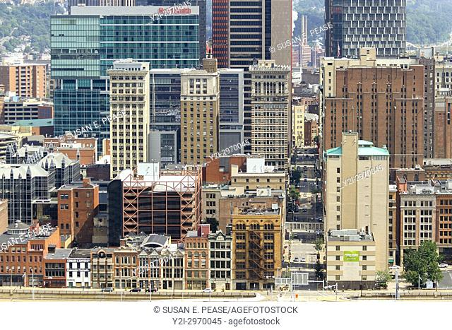 Architecture in downtown Pittsburgh, Pennsylvania, United States