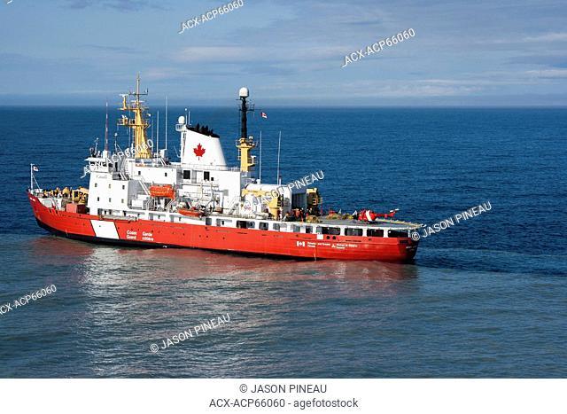 Canadian Coast Guard ship, 'Henry Larsen,' in Pond Inlet, Nunavut, Canada, during Operation Nanook 2010
