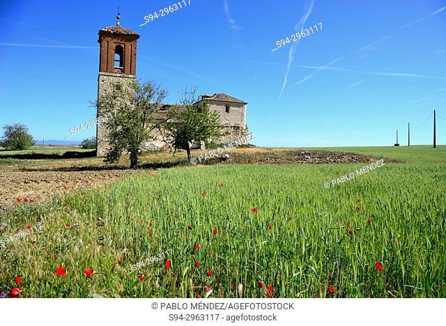 Abandoned church of Caudilla, Toledo, Spain
