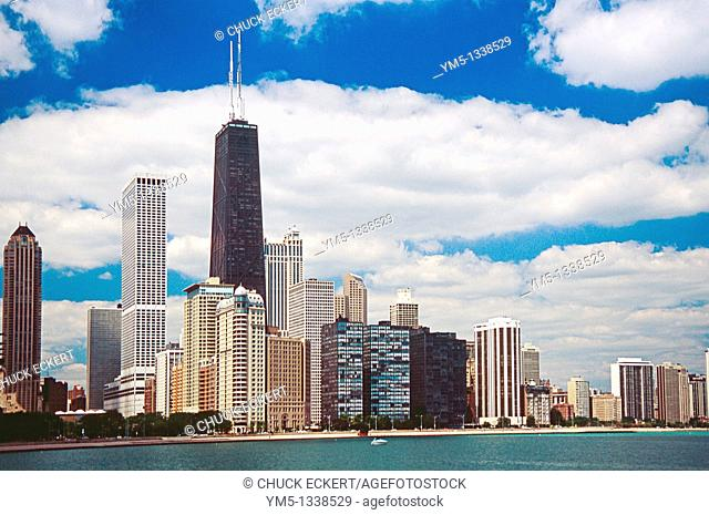 Chicago's Northshore as viewed from Lake Michigan
