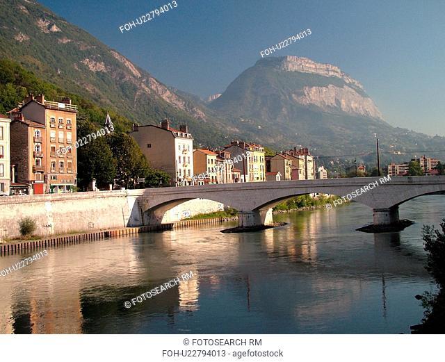 France, Grenoble, Isere, Rhone-Alpes, Europe, Isere River