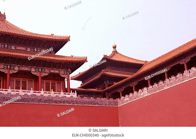 The colourful roof tops of the Forbidden City,China