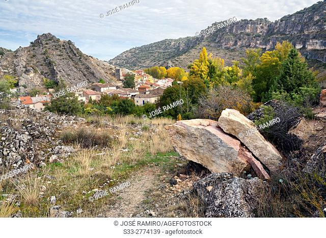 Canyon of Rio Dulce and Aragosa. Guadalajara. Castilla la Mancha. Spain. Europe