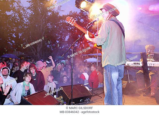 Concert, reggae-band 'Jahcoustix', idea, public, not freely for tourism, music, festival, Open air, musicians, singers, sings artist, reggae, reggae-singers