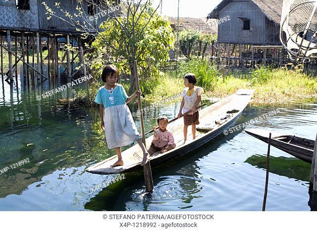 Floating Village. Inle Lake, Myanmar