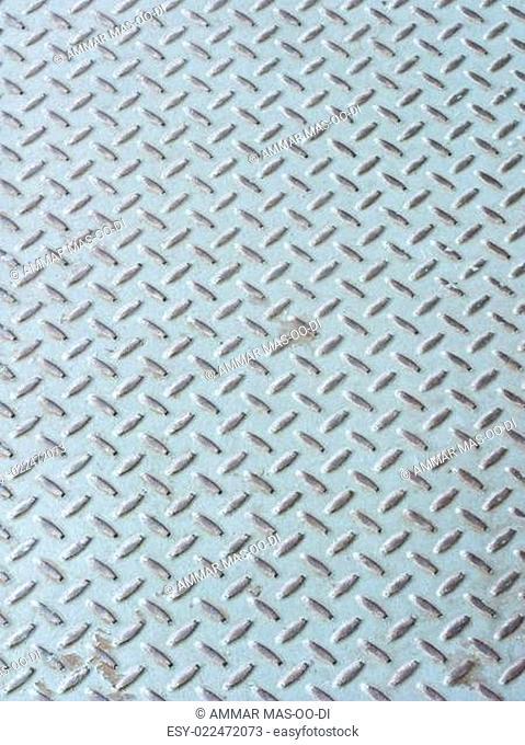 Grey iron industrial floor as background