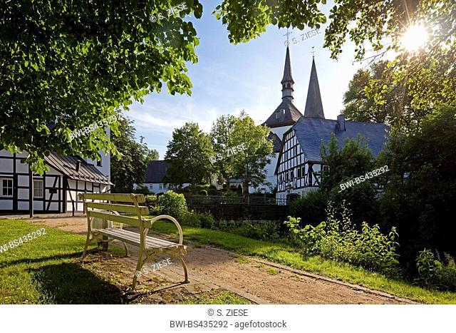 parish church Saints Peter and Paul Church in the village centre of Eslohe, Germany, North Rhine-Westphalia, Sauerland, Eslohe