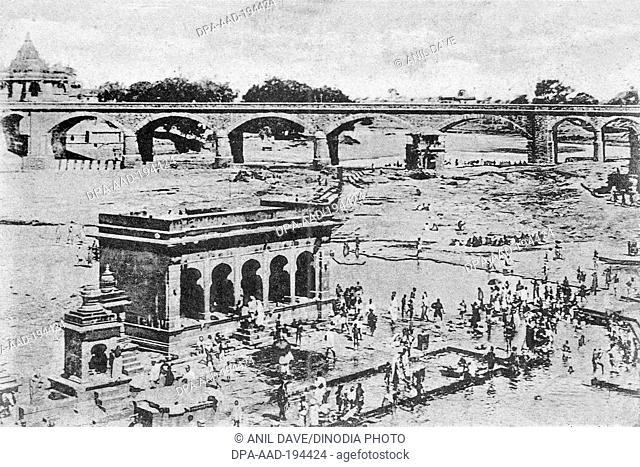 Godavari river, nashik, maharashtra, india, asia
