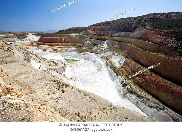 Bentonite mine  Cabo de Gata-Nijar, Andalusia, Spain