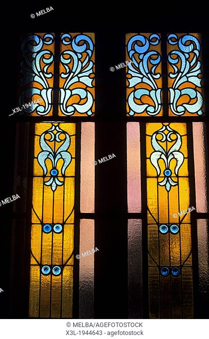 Stained-glass Window, Mataro. Barcelona. Catalunya. Spain