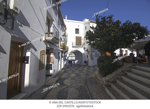 Altea white village in Alicante coast Spain on November 26, 2017