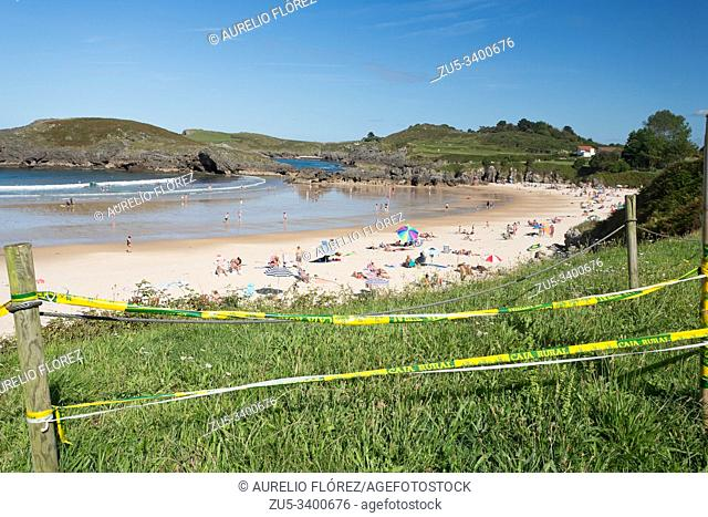 Eastern beach of Asturias. The beach of Barro in Llanes is about 250 meters long and at low tide it has a double size, white sand and acceptable services