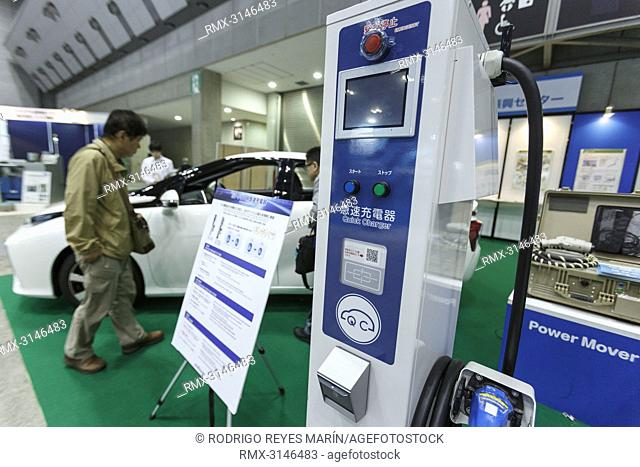 September 26, 2018, Tokyo, Japan - An EV Quick Charger on display during the Electric Vehicle & Plug-in Hybrid Vehicle Exhibition (EVEX) in Tokyo Big Sight