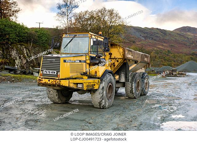A Volvo BM A25C 6x6 articulated hauler at Elterwater Quarry