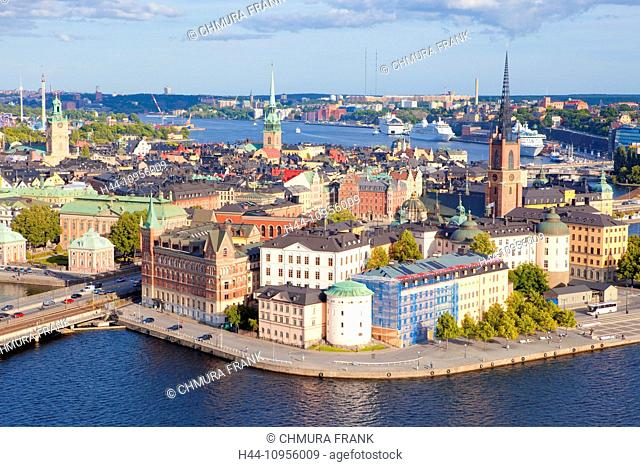 boat, building, buildings, capital, car, cities, city, cityscape, church, day, Europe, exterior, harbour, house, Nordic, northern, old, Old Town, outdoors