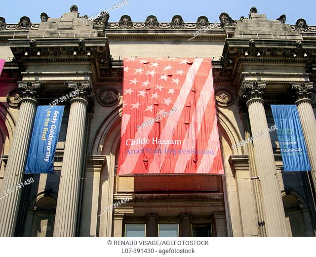 Entrance to the Metropolitan Museum of Art. New York City. USA