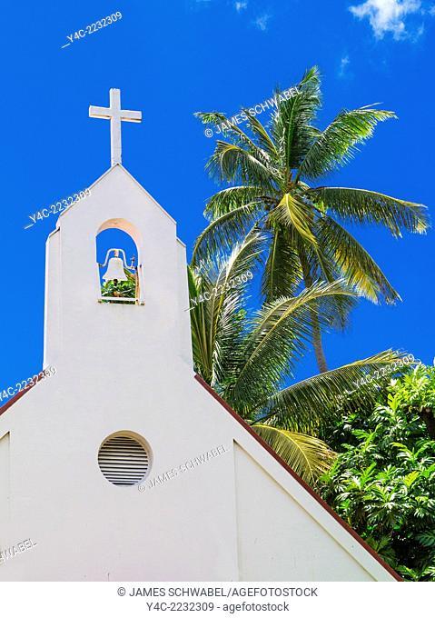 Nazareth Evangelical Lutheran Church in Cruz Bay on the Caribbean Island of St John in the US Virgin Islands