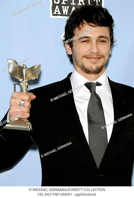 James Franco in the press room for PRESS ROOM - Film Independent's 2009 Spirit Awards, on the beach, Santa Monica, CA 2/21/2009