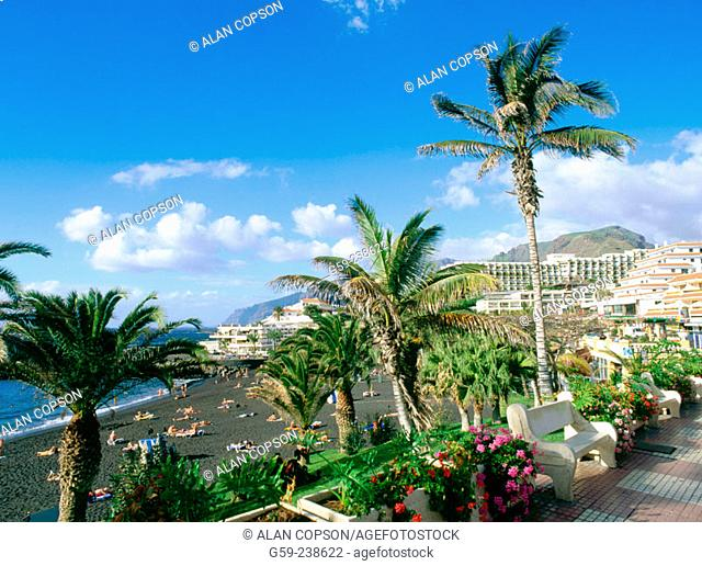 'Playa de la Arena' in Puerto de Santiago. Tenerife. Canary Islands. Spain