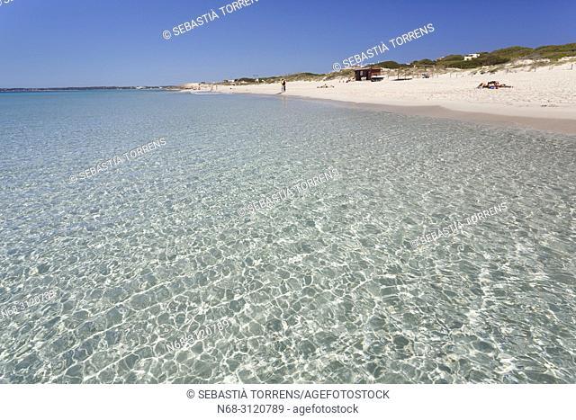 Playa de Migjorn, Formentera, Balearic Islands, Spain